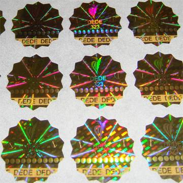 3D hologram sticker, security hologram with PET material