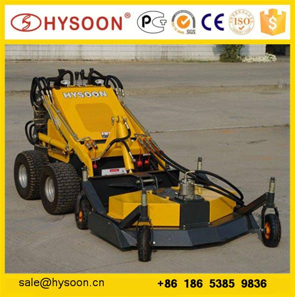 skid steer type mini loader lawn mower