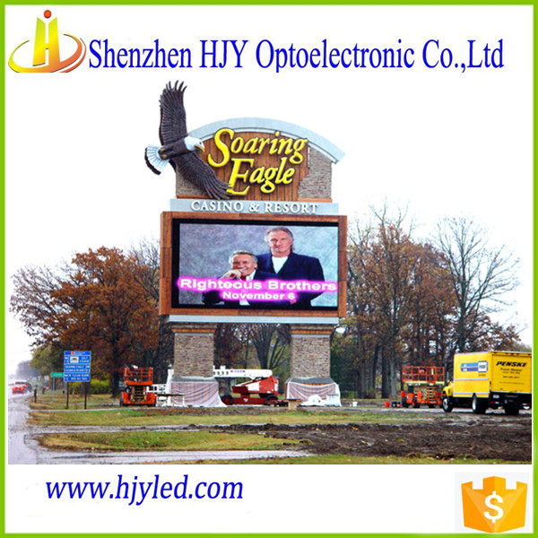 P10 outdoor usage led video wall for advertising