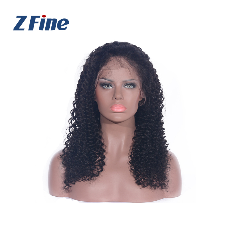 human hair frontal full lace kinky curly wigs for black woman