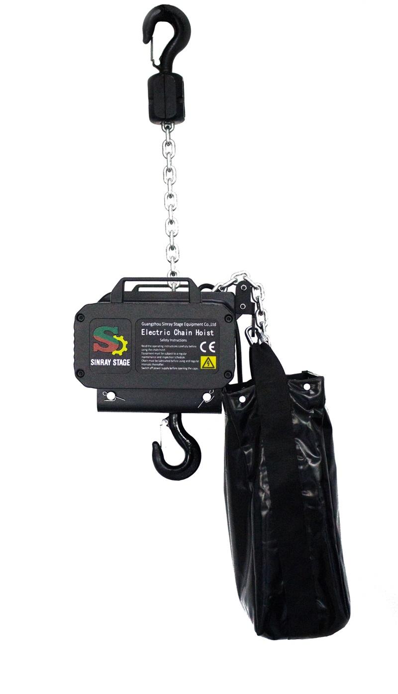 black stage electric hoist