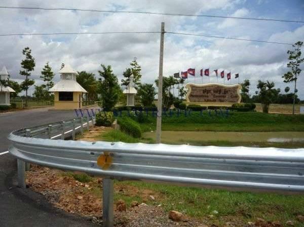 steel highway guardrail