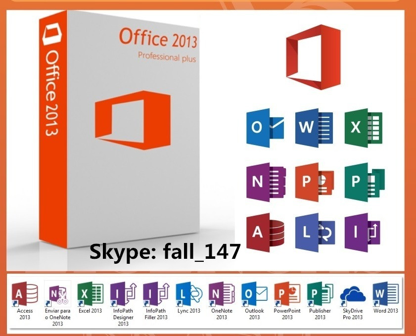 office 2013 pro plus Fpp online activation Product Key COA Sticker Label