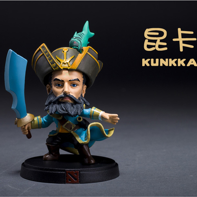 Customized action figure toys DOTA KUNKKA