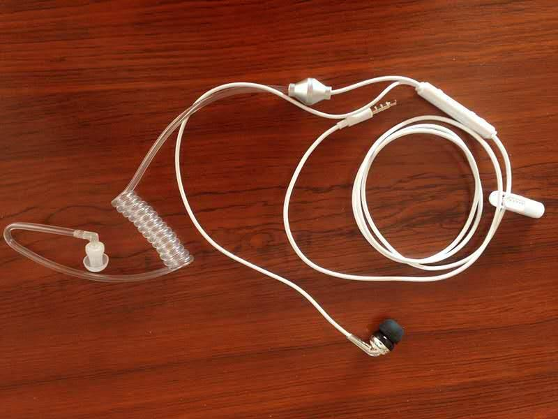 Hgh quality white anti-radiation earphone for mobile phone