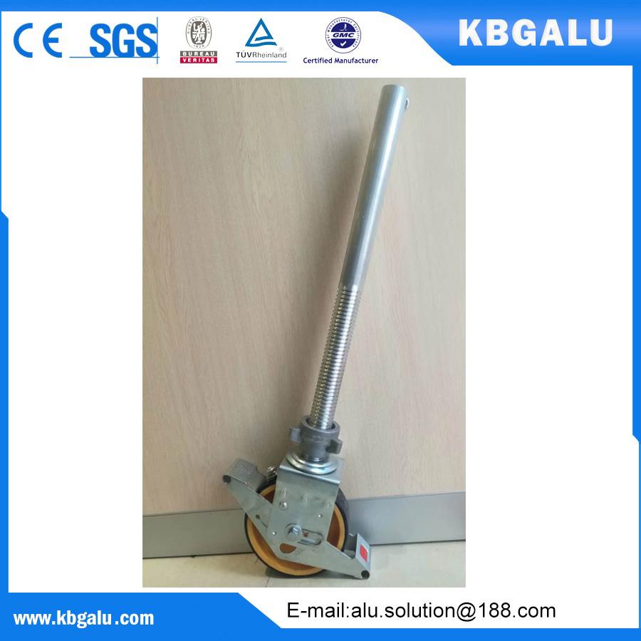 EN certified 8 inch scaffold wheel with aluminum adjustable leg