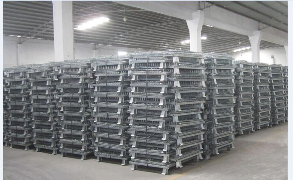 hot sale collapsible galvanized steel storage wire mesh cage
