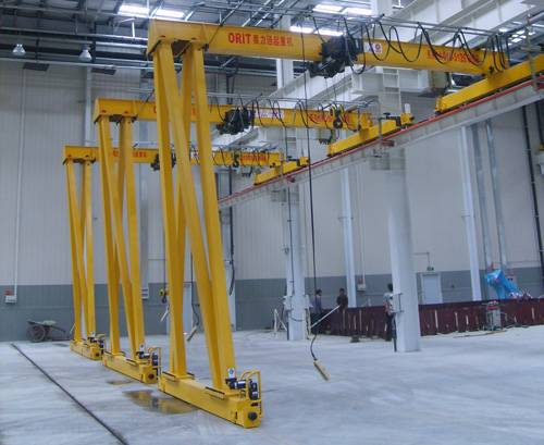 Rail Single Beam Semi Gantry Crane