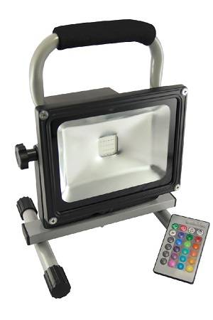 20W LED Portable Rechargeable Flood Light (RGB With IR Control)