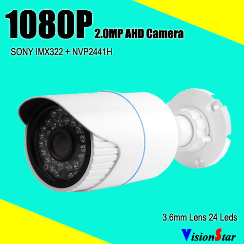 AHD 1080P 2.0MP analog cmos sensor sony IMX322 weatherproof bullet type for dvr kit