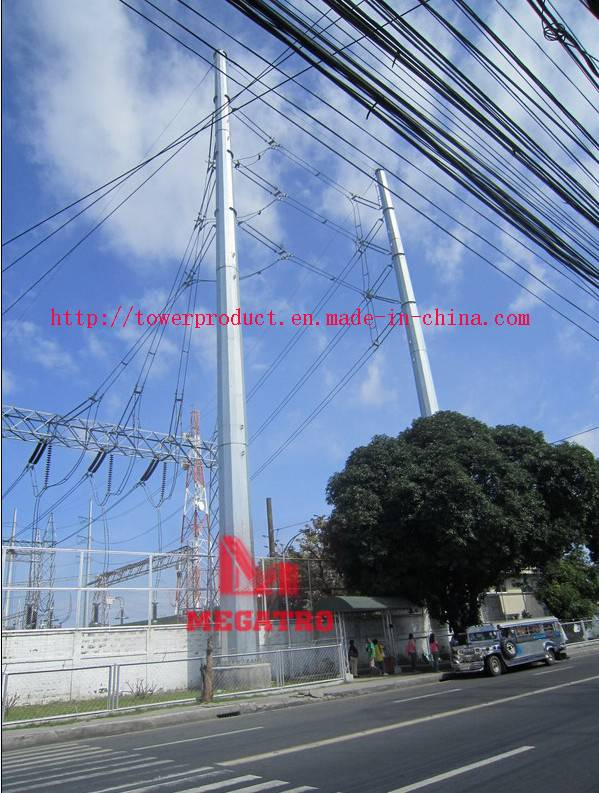 Corner Run Steel Pole for overhead power tranmission