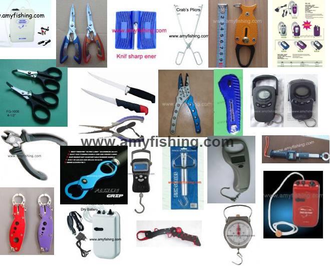 fishing fillet knife, fishing grip, fishing scale, needle nose fishing plier, fishing grasper