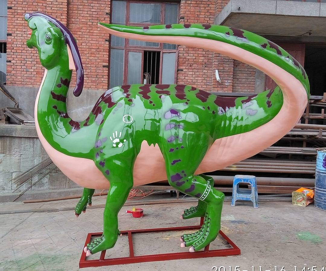 The best Outdoor Playground FRP Life Size Dinosaur Statue