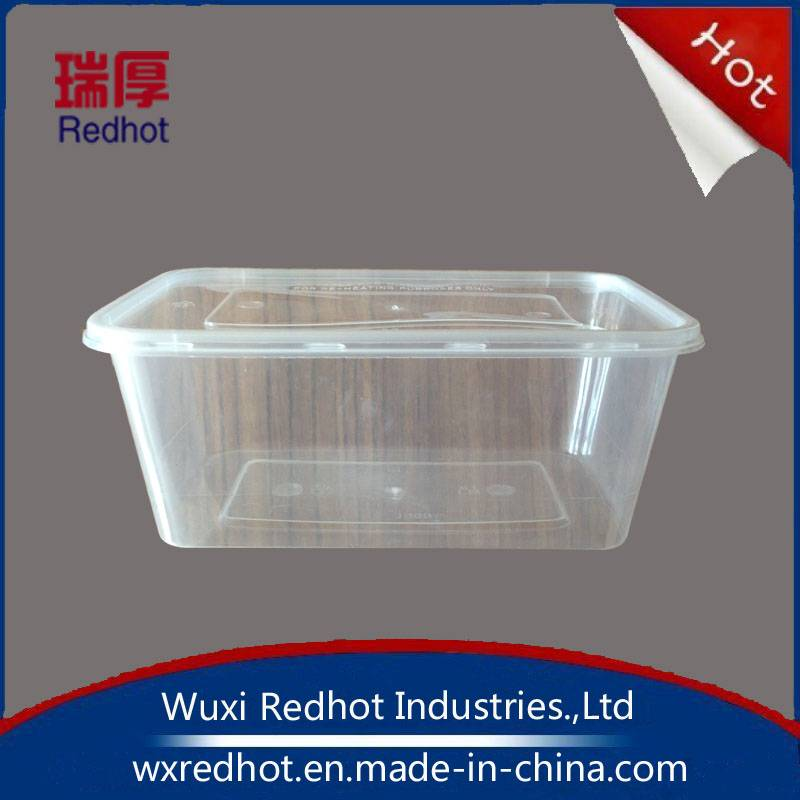 Microwave Diposable Plastic Fast Food Packaging Box