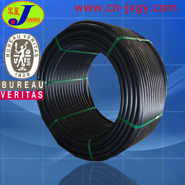 Black plastic water pipe roll hdpe pipe fitting