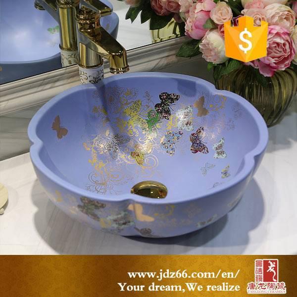 Ceramic blue countertop hand wash basin price