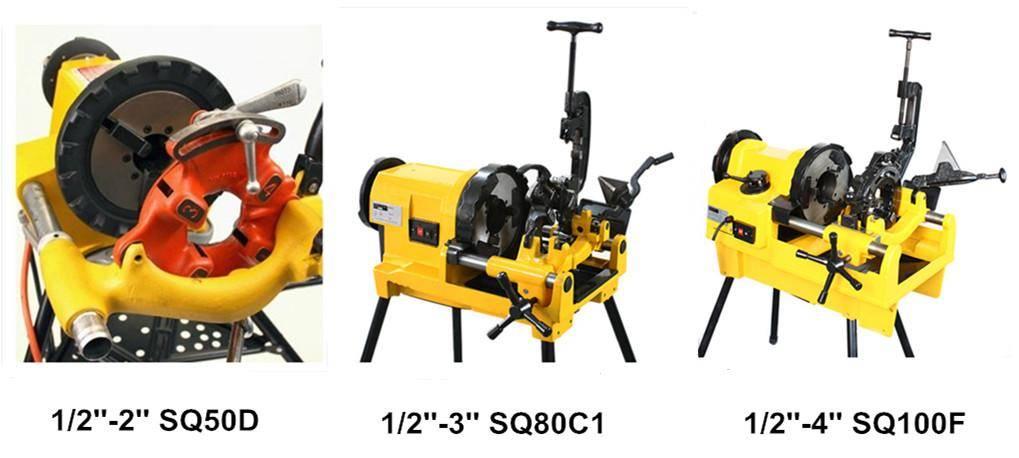 4'' power pipe threading threader machine SQ100F
