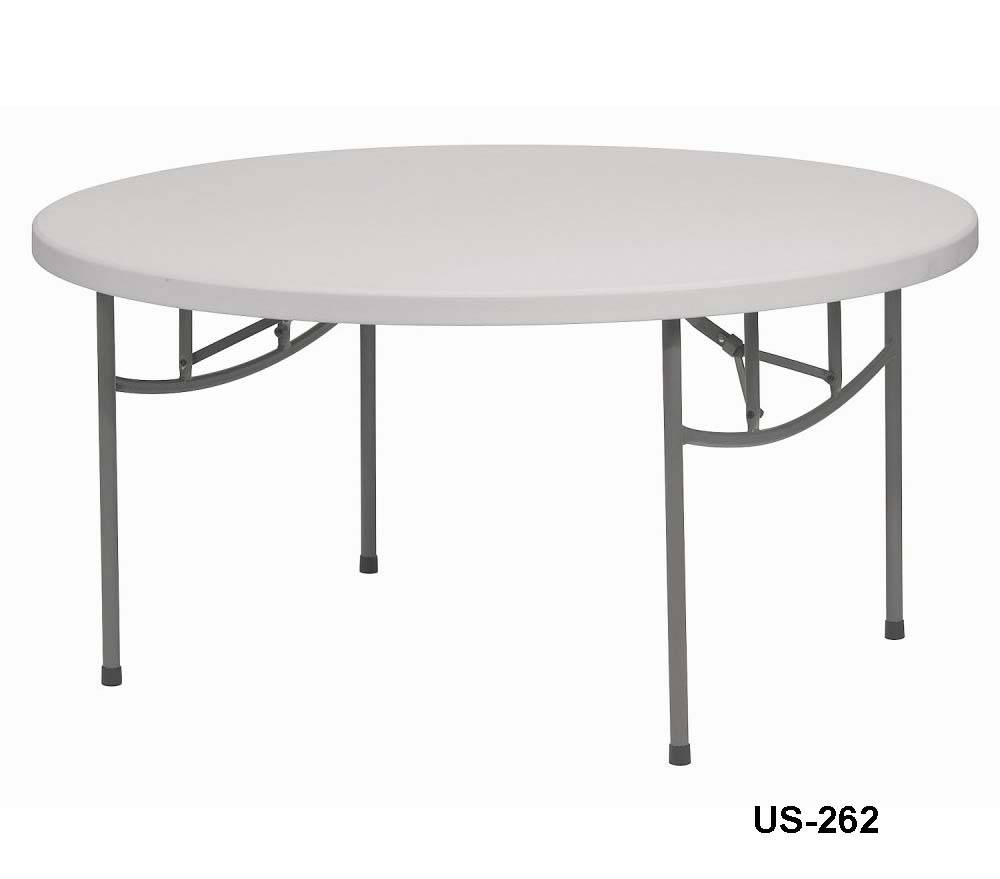 6' round folding table with full board