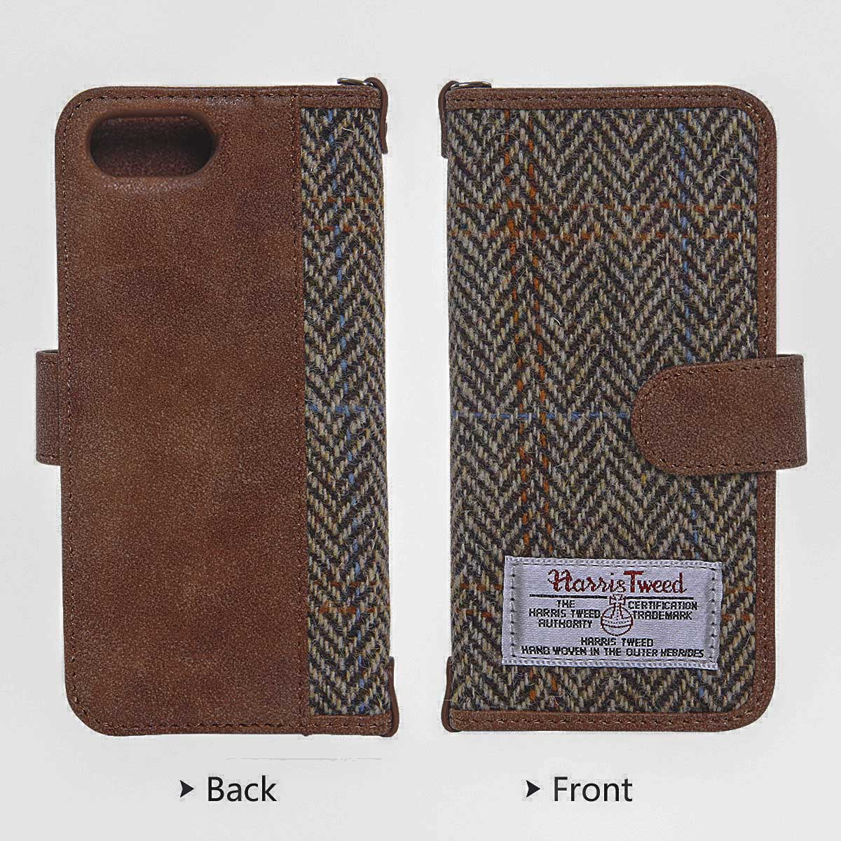 Harris Tweed iPhone 7 Case, Hard PC+ Premium Cotton Material Wallet Phone Case