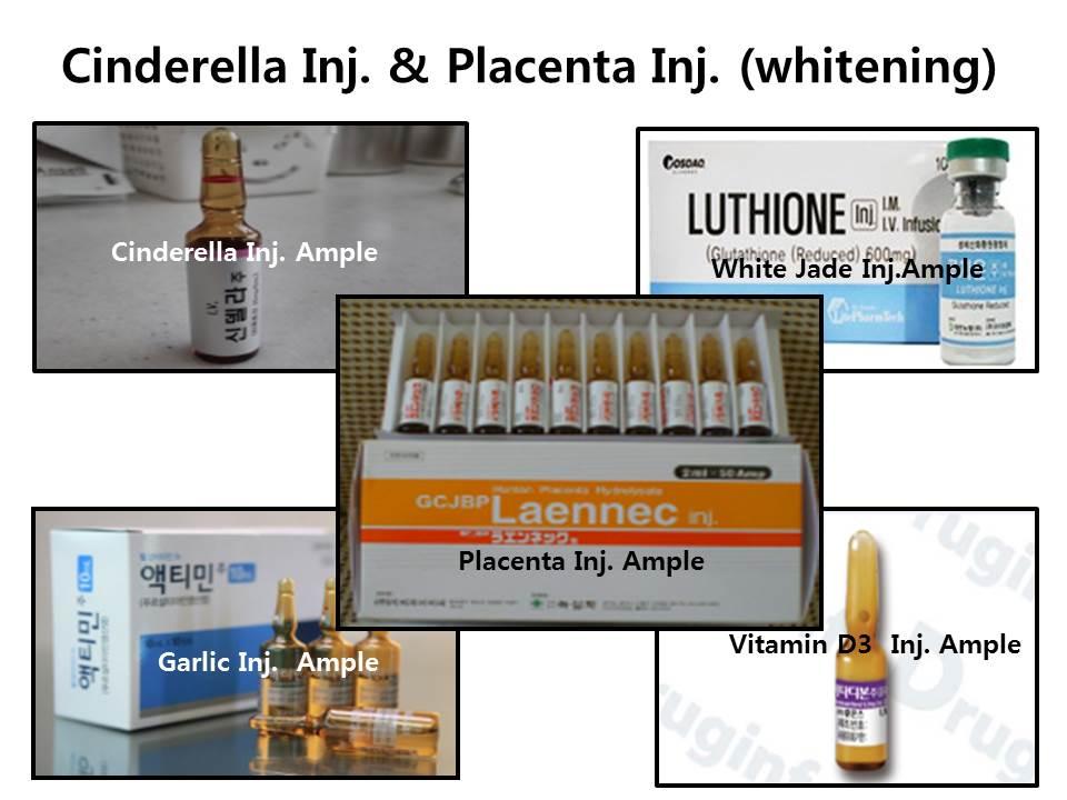 Dermatology : Cinderella Inj. & Placenta Inj. (skin whietning )