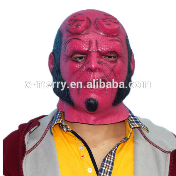 X-MERRY TOY halloween Mask Hellboy II The Golden Army Adult Deluxe Overhead Latex Mask x14025
