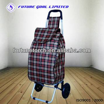 Steel shopping trolley cart for supermarket