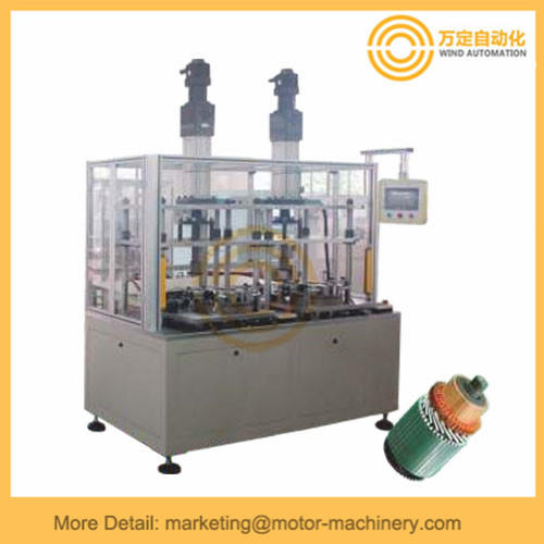 Starter motor commutator pressing machine