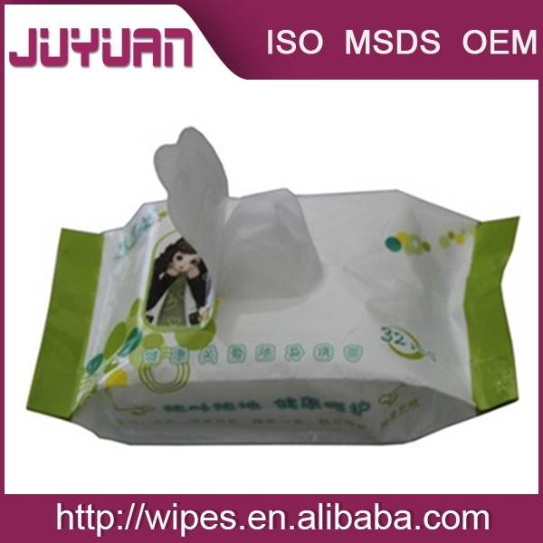 High Quality Feminine Antibacterial Wet Wipes/Female intimate wet tissue