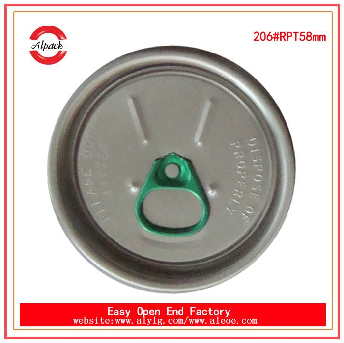 Transparent can aluminum cans and caps, 206#beverage easy open end
