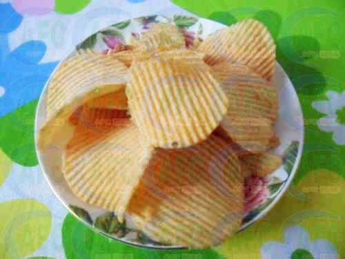Extruded Snacks Food Process Line---Fried Potato chips machine