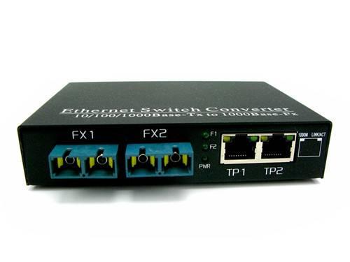 10/100/1000M 2-Port Fx + 2-Port Tx Fiber Switch