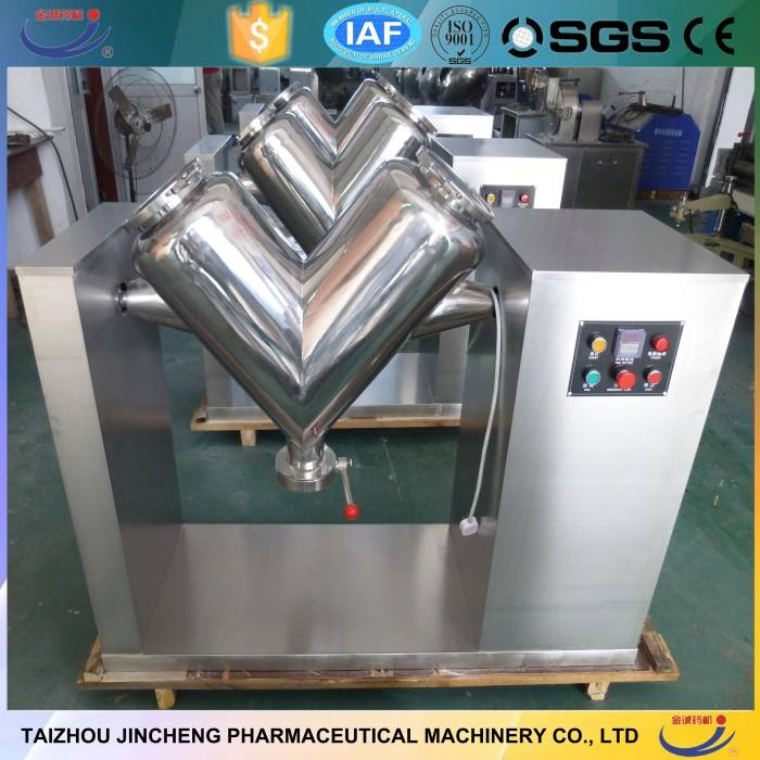 Powder mixing machine v type blender for chemical powder and liquid