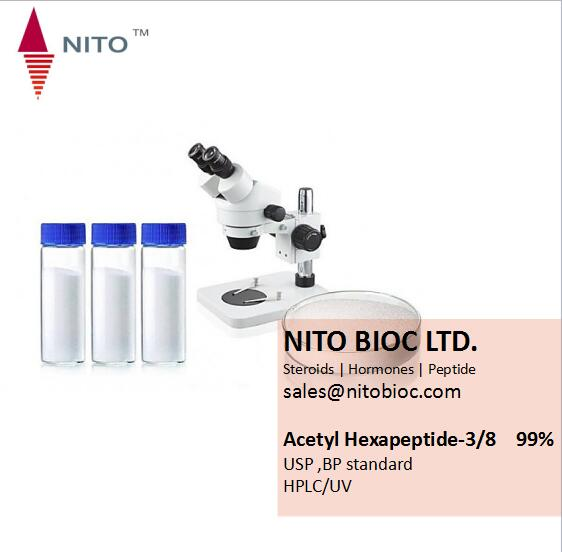 Hot selling strong cosmetic material Acetyl Hexapeptide-3/8