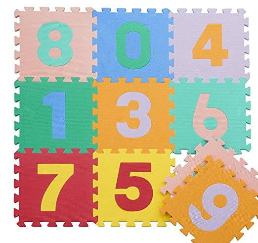 3D EVA Baby Play Puzzles Mats 16pcs/Set Colorful Waterproof Interlocking Numbers Math Floor Mats Bab