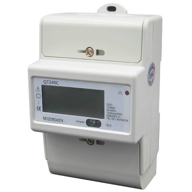 Din Rail Single Phase Power Meter KWh Meter