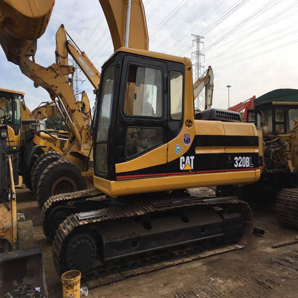 Used caterpillar 320B crawler hydraulic excavator