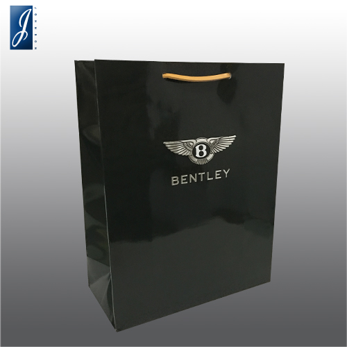 Customized promotional paper bag for BENTLEY