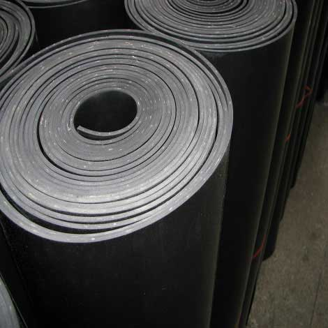 Cloth insertin rubber sheet