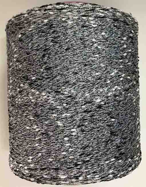 Black & White Knot Yarn 100% Polyester