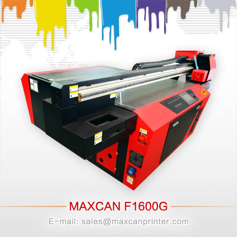 Maxcan F1600-G5 digital advertising UV flatbed printer multifunctional printing machine with Ricoh h
