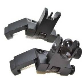 Hot Sale Ar15 Ar 15 Front and Rear Flip up 45 Degree Rapid Transition Backup Iron Sight