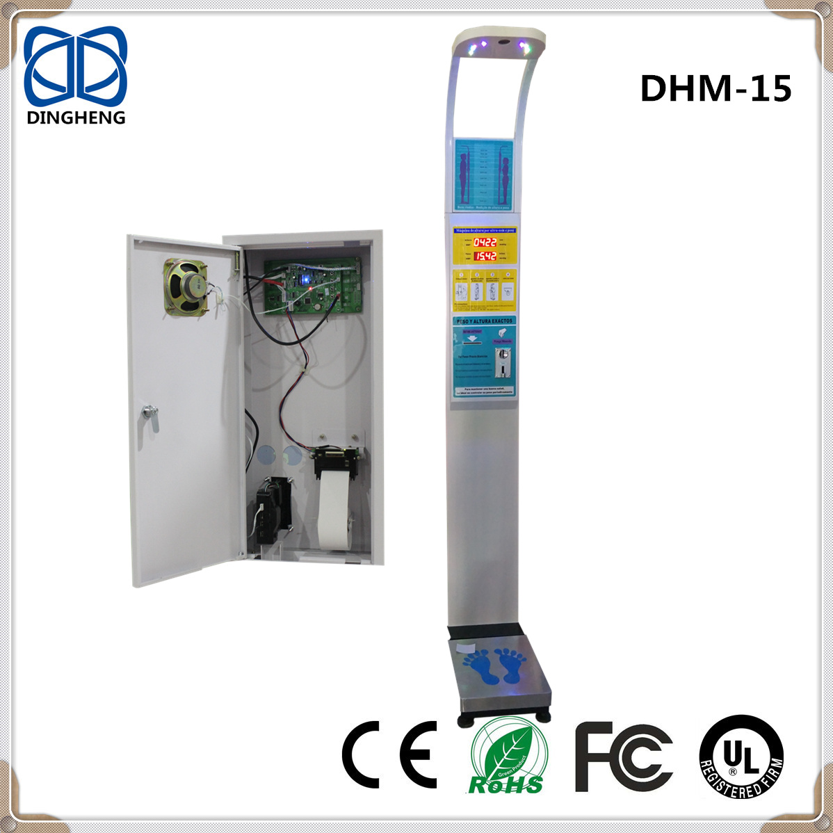 High Accuracy Digital Bathroom Body weighing Scale with coin machine and LED Display Smart Technolog