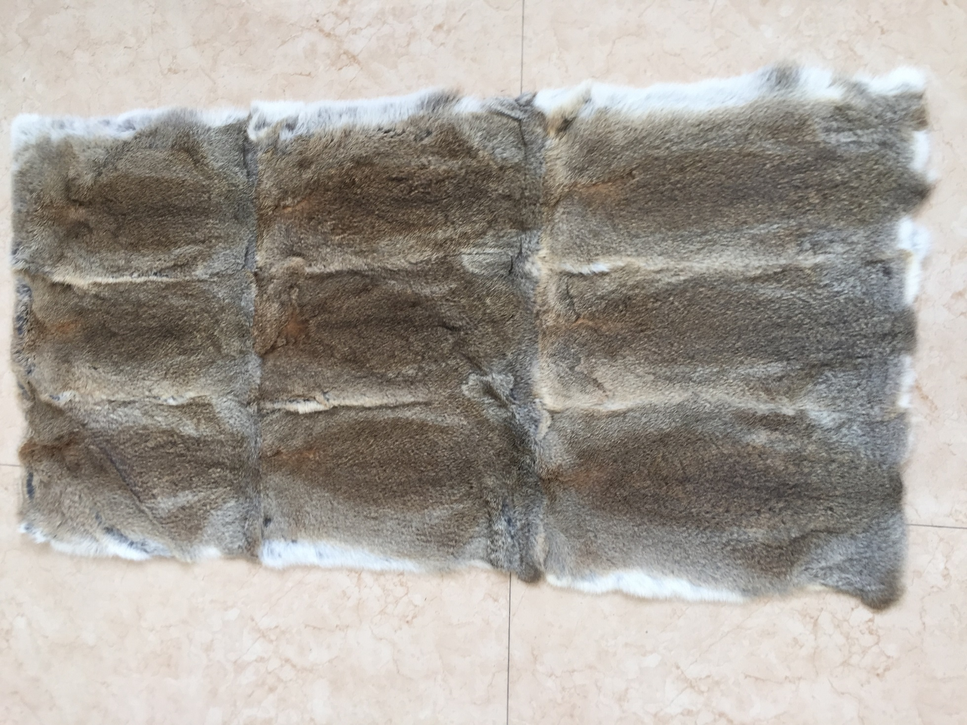 Natural Heather (Brown) Color rabbit fur plate