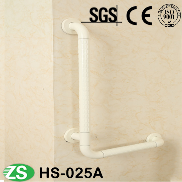 Hot Sale Nylon Stainless Steel Bathroom Curved Knurled Grab Bars