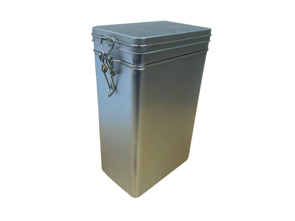 custom coffee tin box with wire lock