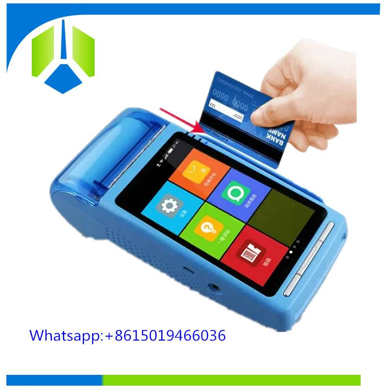 Original manufacturer android handheld pos machine with receipt printer and 2D barcode scanner