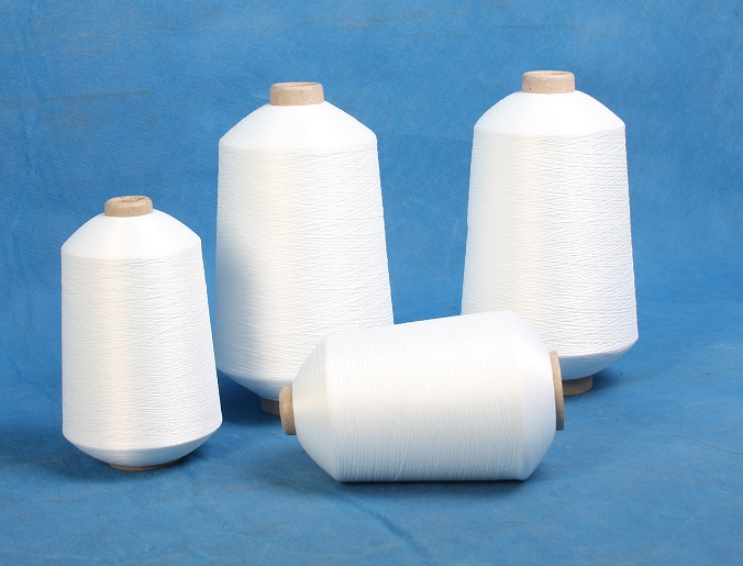 raw white polyester thread for quilting machine