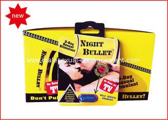 Herbal Sex Pills, Night Bullet Pills For Natural Male Enhancement With 24 Capsules Per Box