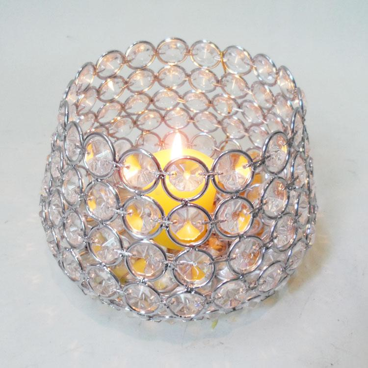 top seller standing crystal candle holders