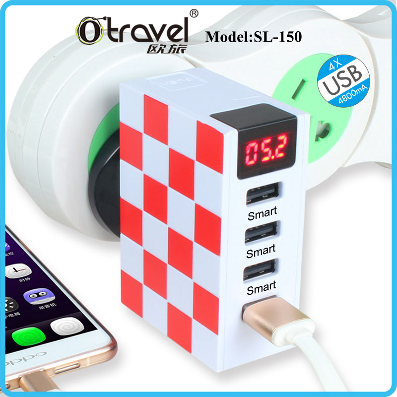 Smart charger 4 USB charger universal plugs